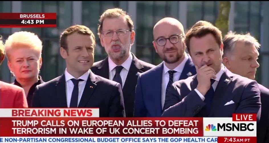 La cara de Rajoy en la OTAN