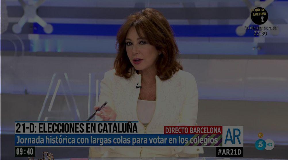 Críticas a Ana Rosa por cortar en directo a un votante