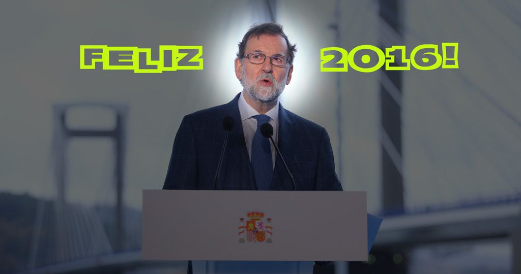 Los mejores tuits y memes del Feliz 2016 de Rajoy