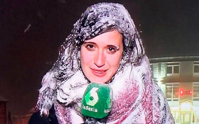 Los memes de la reportera congelada de La Sexta