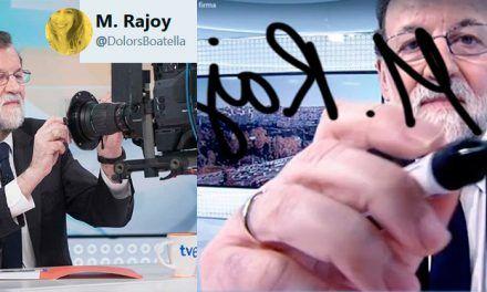 Lo que Rajoy firma en la cámara según algun@s tuiter@s :D