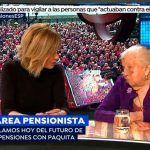 Palos a Susanna Griso por amilanar a Paquita, una pensionista de 91 años
