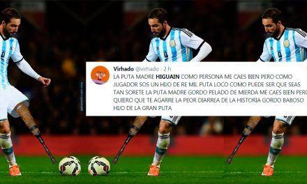 Argentinos insultando a Higuaín