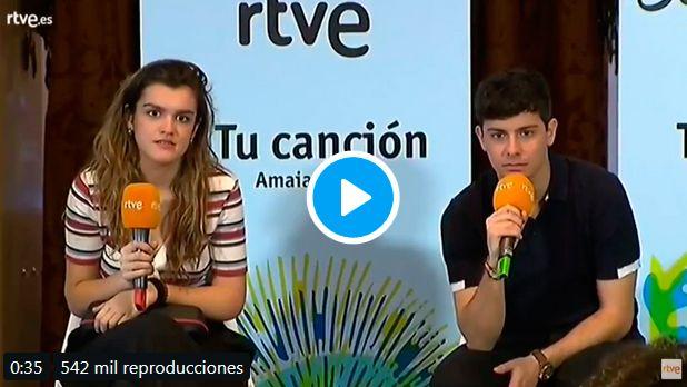 Genial respuesta de Amaia en la rueda de prensa de Eurovisión