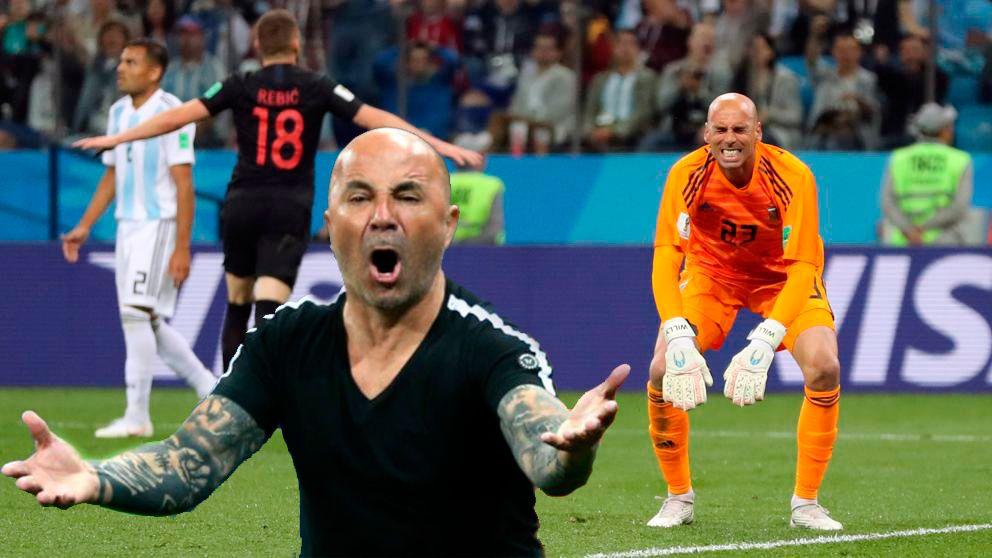 Argentinos insultando a su selección tras el 0 a 3 de Croacia en el Mundial