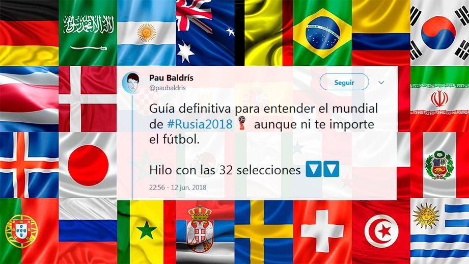 El descojonante hilo que analiza a las 32 selecciones del Mundial de Rusia