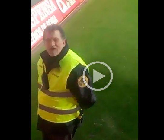 ¿Rajoy de vigilante de seguridad en el estadio de Los Pajaritos de Soria?