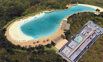 Construyen una playa artificial en la celda de Iñaki Urdangarín