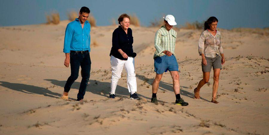 Los mejores memes de Pedro Sánchez y Merkel en Doñana