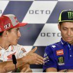 Valentino Rossi se niega a dar la mano a Márquez
