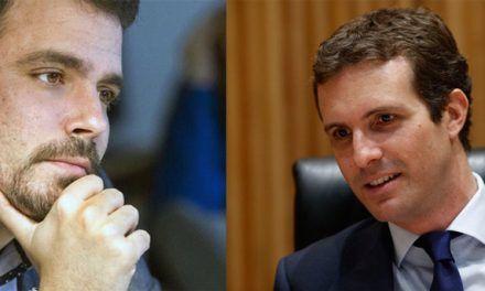 Zasca de Alberto Garzón a Pablo Casado por ver golpistas en todos lados