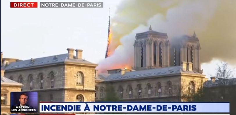 La CAÍDA DE LA AGUJA de Notre Dame en vídeo