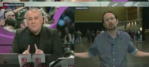 Pablo Iglesias le da un repaso a Ferreras en pleno directo