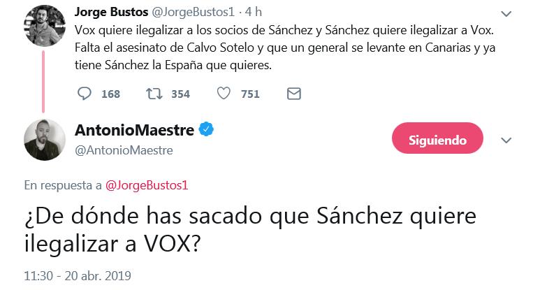 Brutal zasca de Antonio Maestre a Jorge Bustos