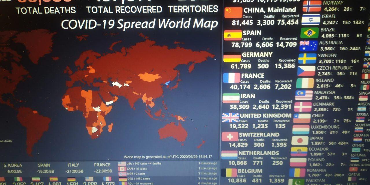 Mapa Coronavirus en tiempo real del mundo