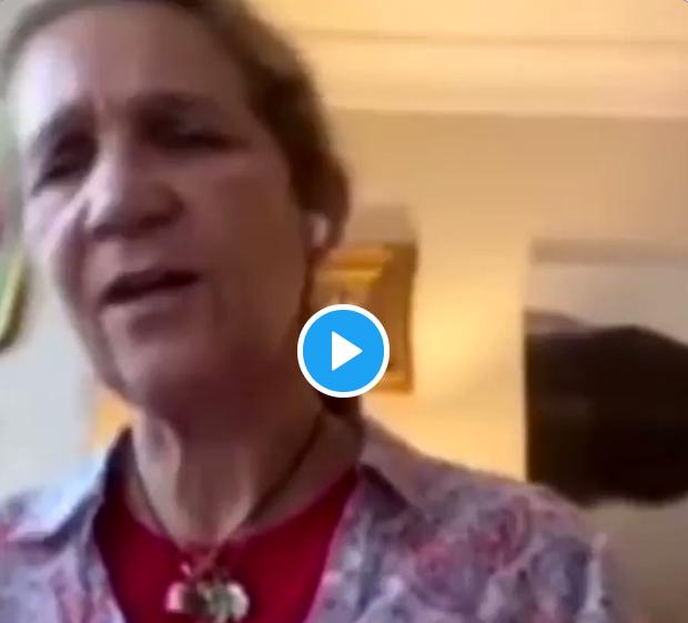Vídeo de la Infanta Elena cantando resistiré