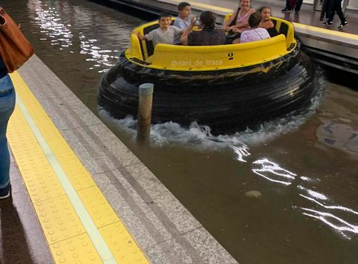 Los memes del metro de Madrid inundado